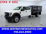 2018 Ford F550 ~ 4x4 ~ Diesel ~ Crew Cab ~ 12ft. Stake Bed ~ Only 46K Miles!