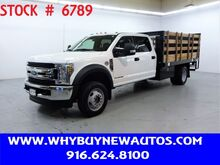 2018_Ford_F550_~ 4x4 ~ Diesel ~ Crew Cab XLT ~ Liftgate ~ 12ft. Stake Bed ~ Only 26K Miles!_ Rocklin CA