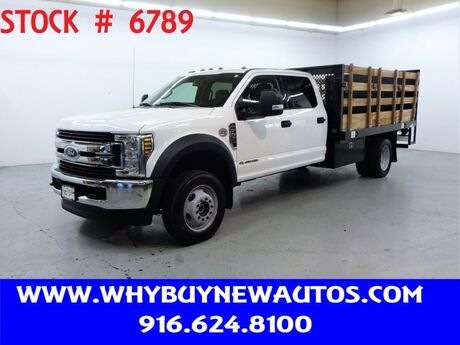2018 Ford F550 ~ 4x4 ~ Diesel ~ Crew Cab XLT ~ Liftgate ~ 12ft. Stake Bed ~ Only 26K Miles! Rocklin CA