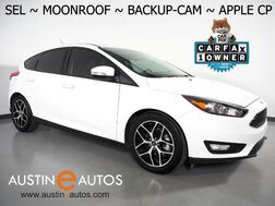 2018_Ford_Focus SEL Hatchback_*BACKUP-CAMERA, MOONROOF, TOUCH SCREEN, HEATED SEATS/STEERING WHEEL, ALLOY WHEELS, SONY AUDIO, BLUETOOTH, APPLE CARPLAY_ Round Rock TX