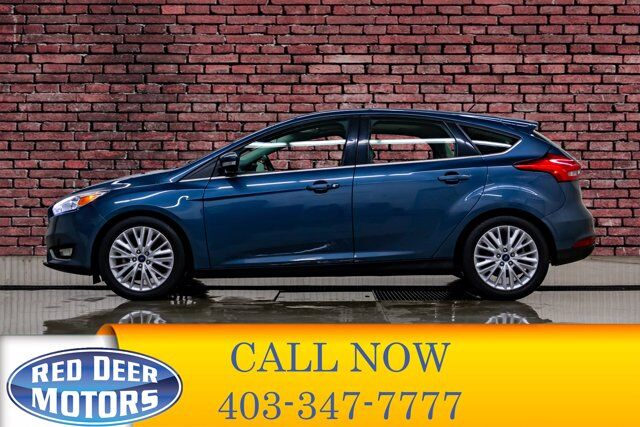 2018 Ford Focus Titanium Hatchback Leather Roof BCam Red Deer AB