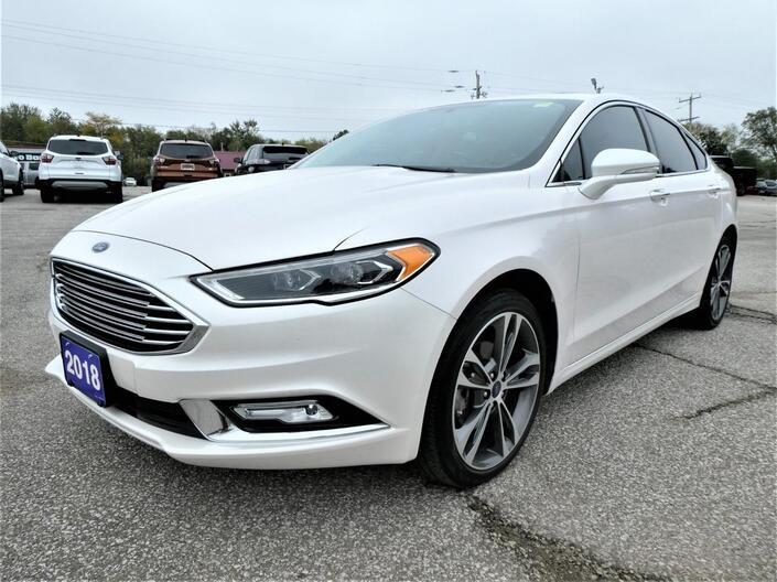 2018 Ford Fusion Titanium 2.0L | Navigation | Sunroof | Remote Start Essex ON