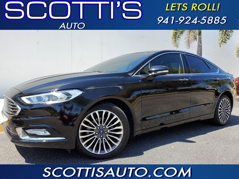 2018 Ford Fusion Titanium EDITION~ CLEAN CARFAX~ALL WHEEL DRIVE~ LEATHER! FINANCE AVAILABLE! CONTACT US TODAY! Sarasota FL