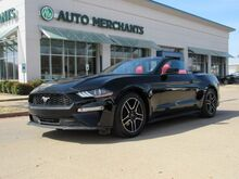2018_Ford_Mustang_EcoBoost Premium Convertible ***RARE RED LEATHER INTERIOR LOADED OPTIONS CONVERTIBLE ***  2.3L 4CYL_ Plano TX