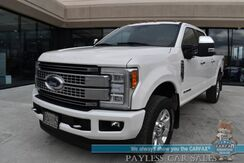 2018_Ford_Super Duty F-350_Platinum / Ultimate Pkg / FX4 / 4X4 / Crew Cab / Turbo Diesel / Auto Start / Heated & Cooled Leather Seats / Heated Steering Wheel / Sunroof / Sony / Navigation / Adaptive Cruise / Lane Departure & Blind Spot / Tow Pkg_ Anchorage AK
