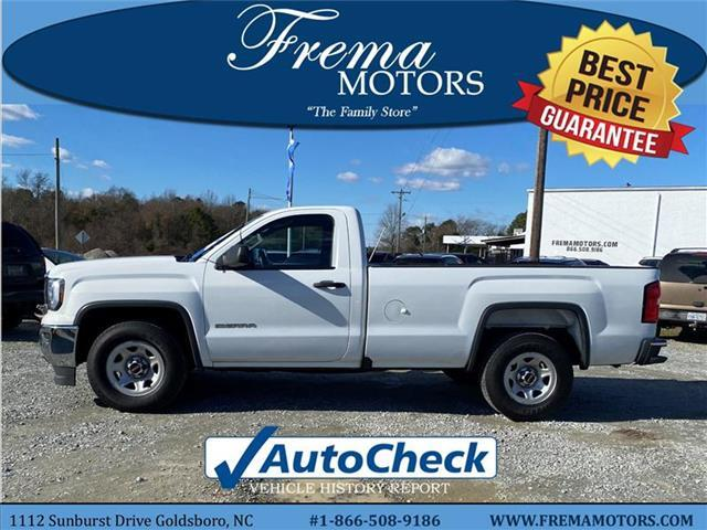 2018 GMC Sierra 1500 Base 4x2 Regular Cab 8 ft. box 133 in. WB Goldsboro NC