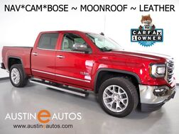 2018_GMC_Sierra 1500 Crew Cab SLT_*NAVIGATION, BACKUP-CAMERA, ADAPTIVE CRUISE, COLLISION ALERT, MOONROOF, LEATHER, CLIMATE SEATS, HEATED STEERING WHEEL, BOSE AUDIO, APPLE CARPLY_ Round Rock TX