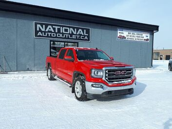 GMC Sierra 1500 SLE - HEATED CLOTH BENCH SEAT, APPLE ANDROID CAR PLAY- BACK UP CAMERA Lethbridge AB