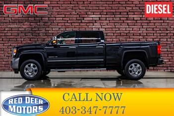 2018_GMC_Sierra 2500HD_4x4 Crew Cab SLT Diesel Leather Roof Nav_ Red Deer AB