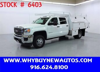 GMC Sierra 3500HD ~ 4x4 ~ Crew Cab ~ 10ft. Contractor Bed ~ Only 41K Miles! 2018