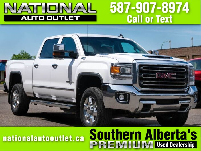 2018 GMC Sierra 3500HD SLT - APPLE/ANDROID CAR PLAY - HEATED LEATHER - COCO DUNE INTERI Lethbridge AB