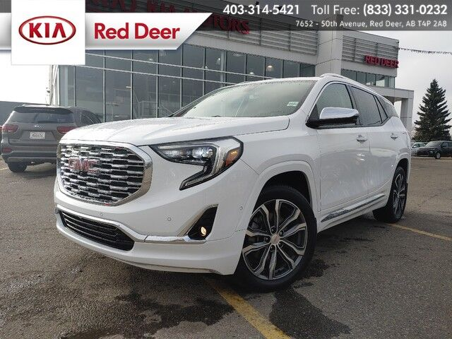 2018 GMC Terrain Denali, AWD, Turbo, Heated Steering Wheel & All Seats, Cooled Front Seats, 360 Camera, TuxMat Front & Rear Floor Mats Red Deer AB