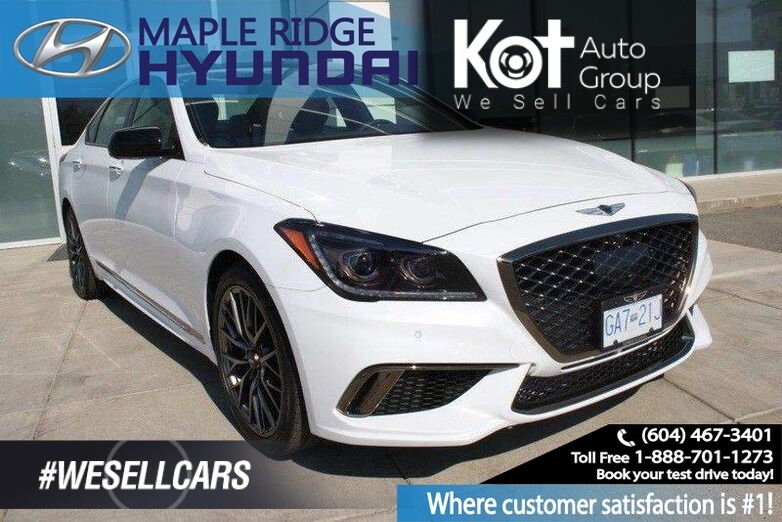 2018 Genesis G80 3.3T Sport Heated Seats, Backup Camera Maple Ridge BC