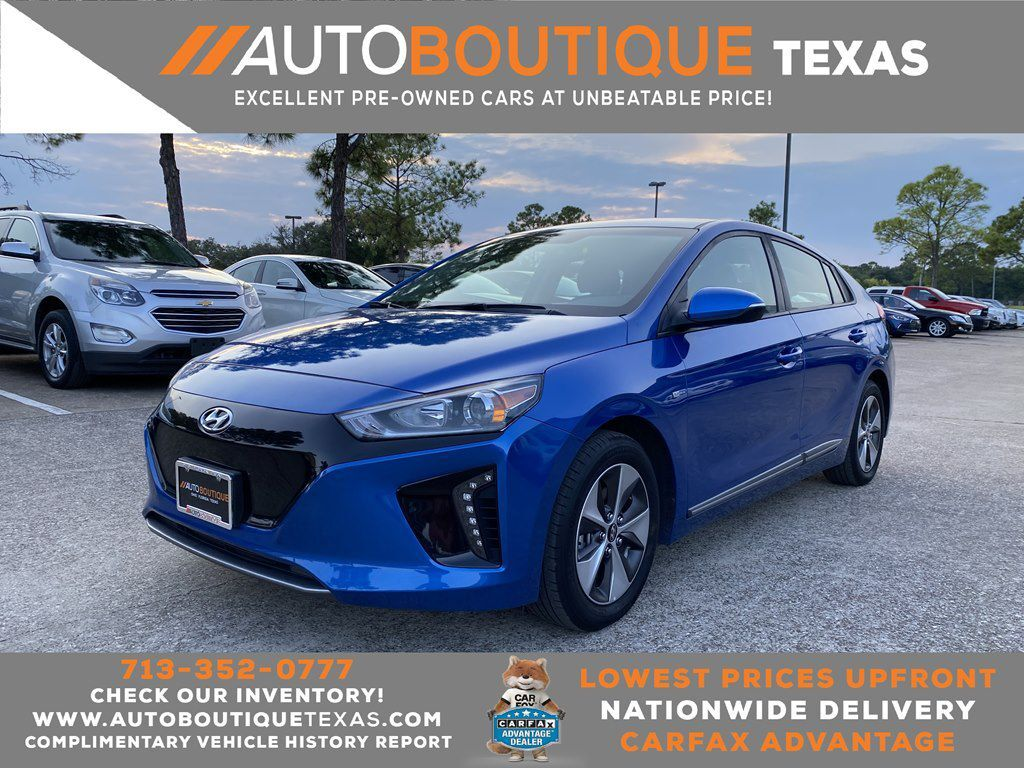 2018 HYUNDAI IONIQ Electric Houston TX