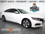 2018 Honda Accord Sedan EX-L 1.5T *BLIND SPOT & LANE DEPARTURE ALERT, COLLISION ALERT w/BRAKING, BACKUP-CAMERA, TOUCH SCREEN, MOONROOF, LEATHER, HEATED SEATS, APPLE CARPLAY