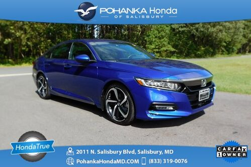 2018_Honda_Accord_Sport 2.0T ** 6-SPD ** Honda True Certified 7 Year / 100,000_ Salisbury MD