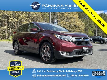 2018_Honda_CR-V_EX-L ** Sunroof ** Pohanka Certified 10 Year / 100,000*_ Salisbury MD