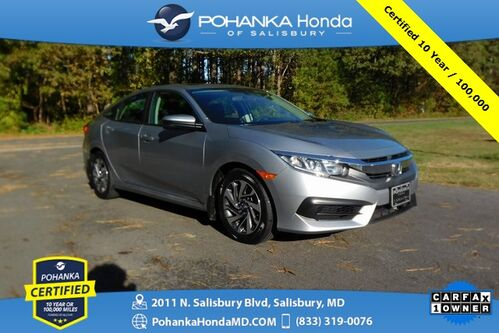2018_Honda_Civic_EX  ** Pohanka Certified 10 Year / 100,000 **_ Salisbury MD