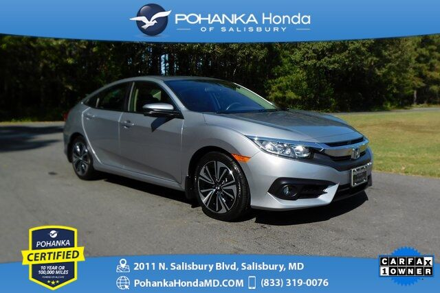 2018 Honda Civic EX-L ** Pohanka Certified 10 Year / 100,000  ** Salisbury MD