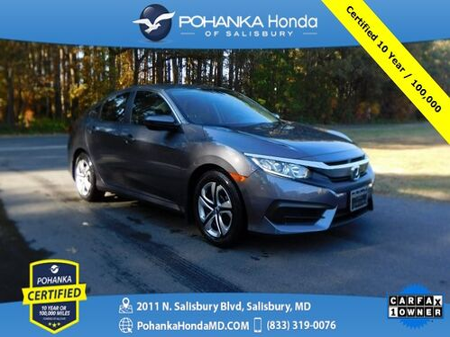 2018_Honda_Civic_LX  ** Pohanka Certified 10 Year / 100,000 **_ Salisbury MD