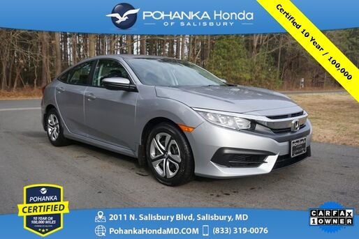 2018_Honda_Civic_LX ** Pohanka Certified 7 Year / 100,000  **_ Salisbury MD