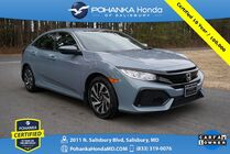 2018 Honda Civic LX Hatchback ** Pohanka Certified 10 Year / 100,000