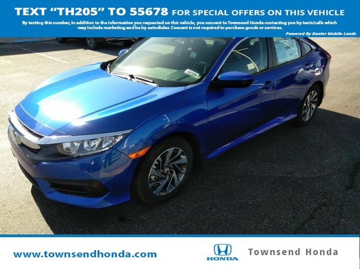 2018 Honda Civic Sedan EX 2.0L Tuscaloosa AL