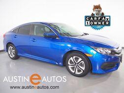 2018_Honda_Civic Sedan LX_*AUTOMATIC, BACKUP-CAMERA, STEERING WHEEL CONTROLS, CRUISE CONTROL, REMOTE KEYLESS ENTRY, BLUETOOTH PHONE & AUDIO_ Round Rock TX