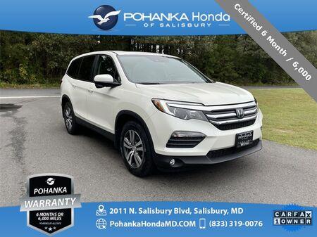 2018_Honda_Pilot_EX-L w/Honda Sensing ** Certified 6 Month / 6,000 **_ Salisbury MD