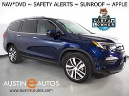 2018_Honda_Pilot Touring_*NAVIGATION, BLU-RAY, BLIND SPOT & LANE DEPARTURE ALERT, COLLISION INTERVENTION, REAR/SIDE CAMERAS, ADAPTIVE CRUISE, MOONROOF, LEATHER, HEATED SEATS, APPLE CARPLAY_ Round Rock TX