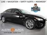2018 INFINITI Q50 3.0t LUXE *NAVIGATION, BLIND SPOT ALERT, COLLISION ALERT, 360 VIEW CAMERAS, DUAL TOUCHSCREEN, MOONROOF, HEATED SEATS/STEERING WHEEL, REMOTE START, BLUETOOTH