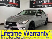 2018_INFINITI_Q50_LUXE SUNROOF REAR CAMERA POWER LEATHER SEATS BLUETOOTH KEYLESS G_ Carrollton TX