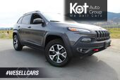 2018 Jeep Cherokee Trailhawk Leather Plus 4x4, Only 28,918 km, Heating and Cooling