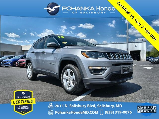 2018 Jeep Compass Latitude ** Pohanka Certified 10 Year / 100,000 ** Salisbury MD