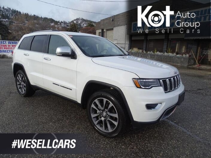 2018 Jeep Grand Cherokee Limited, Navigation, Low KM's, Back-up Camera, Heated Leather Seats and Steering Wheel Kelowna BC