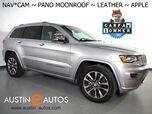2018 Jeep Grand Cherokee Overland *NAVIGATION, BACKUP-CAMERA, PANORAMA MOONROOF, LEATHER, CLIMATE SEATS, POWER TAILGATE, 20 INCH WHEELS, APPLE CARPLAY