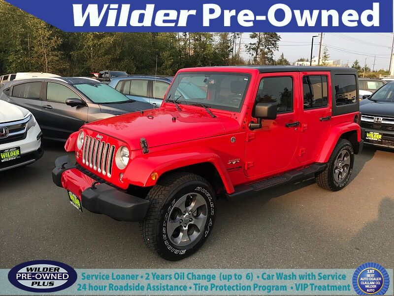 2018 Jeep Wrangler JK Unlimited 4d SUV 4WD Sahara Port Angeles WA