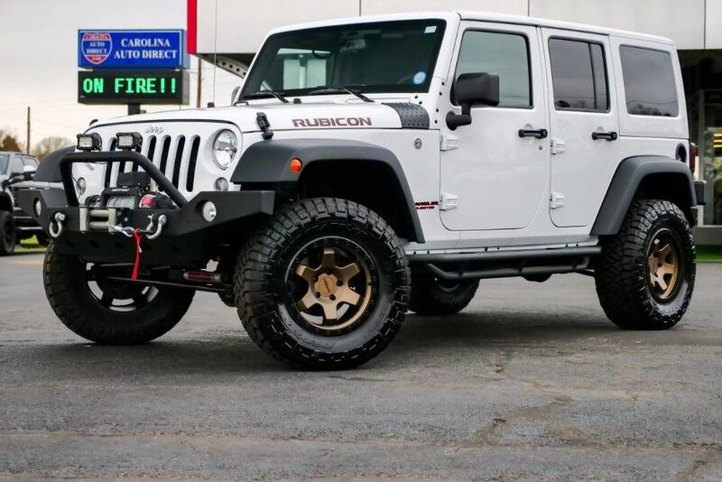 2018 Jeep Wrangler JK Unlimited Rubicon **LIFTED** Matching Hard Top w/ Heated Front Seats & Rotiform Wheels Mooresville NC