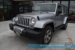 2018_Jeep_Wrangler JK Unlimited_Sahara / 4X4 / Automatic / Hard Top / Auto Start / Navigation / Bluetooth / Air Conditioning / Cruise Control / 20 MPG_ Anchorage AK