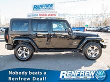 2018_Jeep_Wrangler JK Unlimited_Sahara 4x4, Heated Leather Seats, Remote Start, SiriusXM, A/C_ Calgary AB