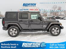 2018_Jeep_Wrangler JK Unlimited_Sahara 4x4, Remote Start, Leather, SiriusXM Satellite Radio_ Calgary AB