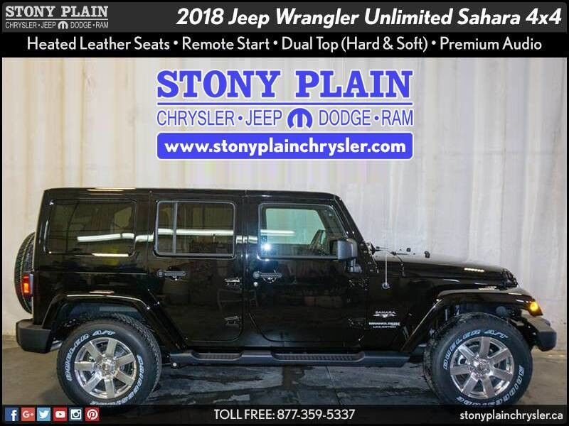2018 Jeep Wrangler JK Unlimited Sahara Stony Plain AB