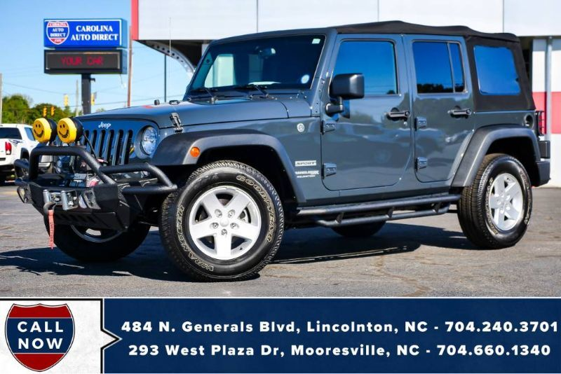 2018 Jeep Wrangler JK Unlimited Sport 4X4 *Soft Top* w/ Winch & KC HiLiTES Mooresville NC