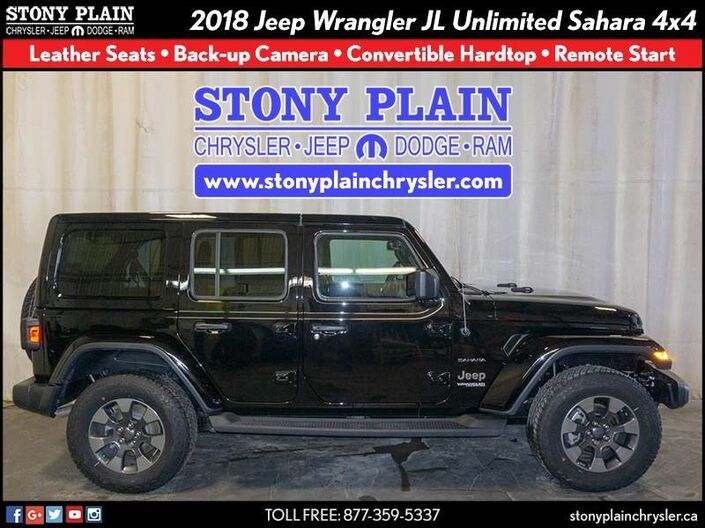 2018 Jeep Wrangler JL Unlimited Sahara Stony Plain AB