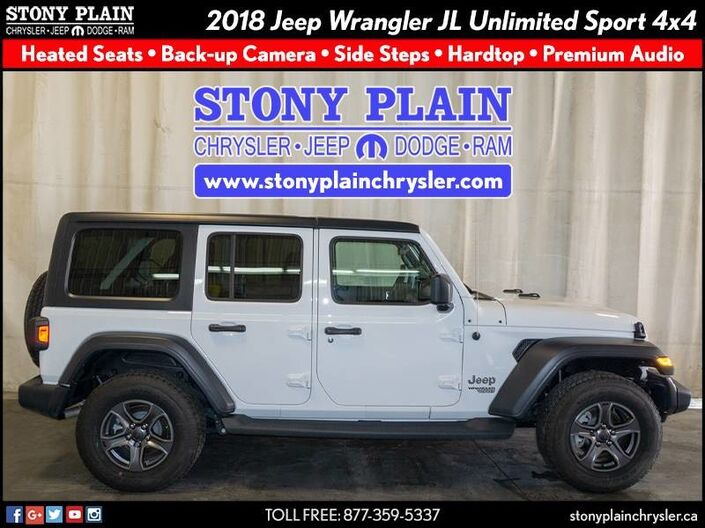 2018 Jeep Wrangler JL Unlimited Sport Stony Plain AB