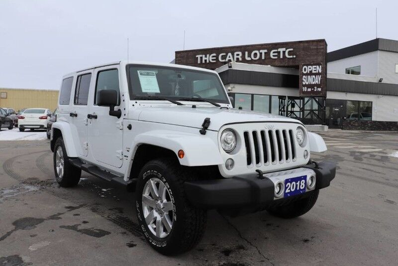 2018 Jeep Wrangler Sahara 4X4 PREVIOUS DAILY RENTAL LEATHER , NAV ETC.!!!!!