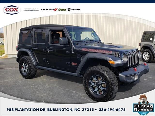 2018 Jeep Wrangler Unlimited Rubicon 4x4 Burlington NC