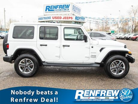 2018 Jeep Wrangler Unlimited Sahara 4x4, Nav, Remote Start, Backup Camera, Bluetooth, SiriusXM Calgary AB