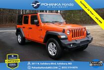2018 Jeep Wrangler Unlimited Sport 4WD ** Pohanka Certified 10 Year / 100,000  **