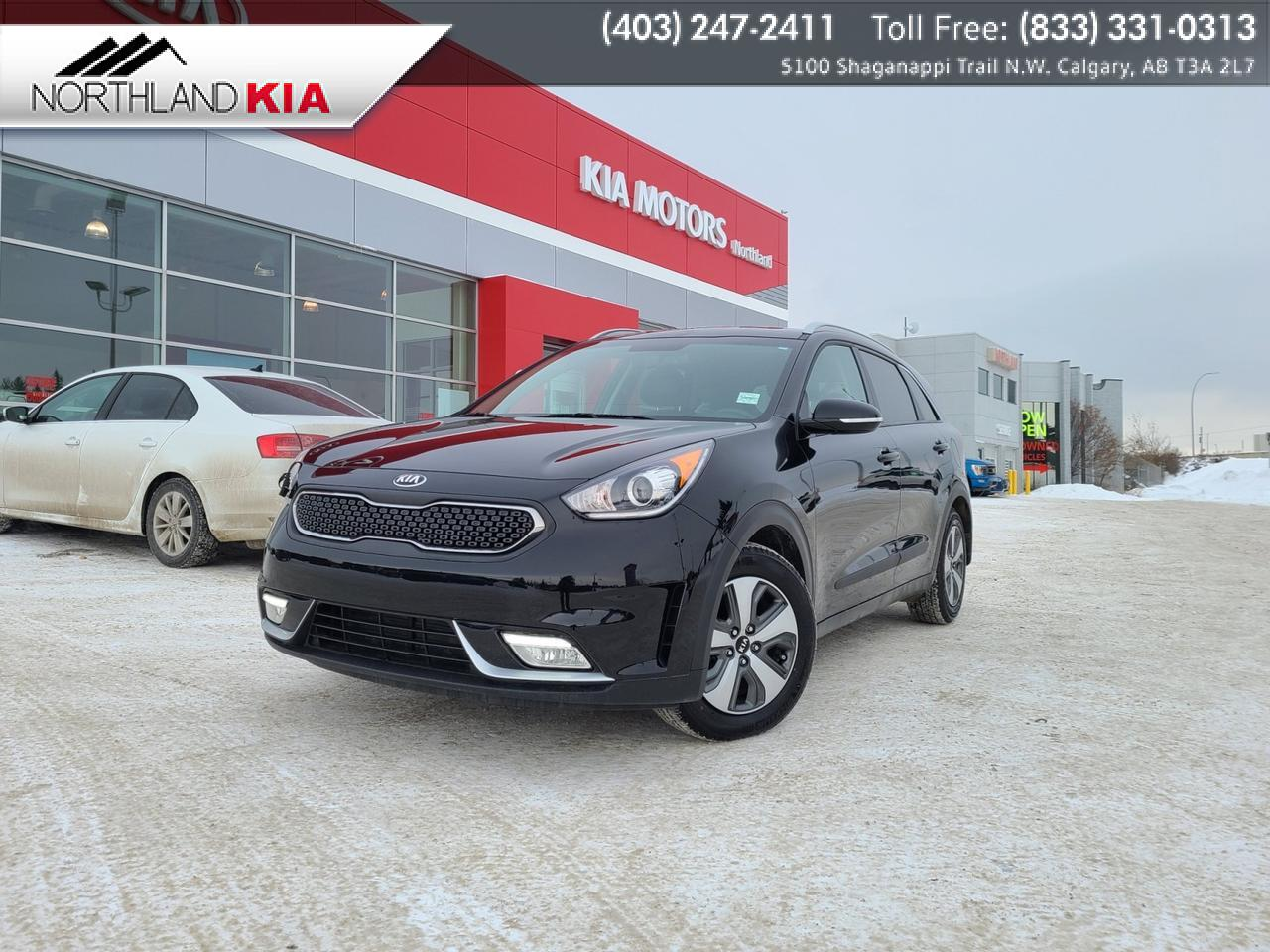 2018 Kia Niro EX Premium HEATED SEATS/ STEERING WHEEL, ANDRIOD AUTO, APPLE CARPLAY, BACKUP CAM, SUNROOF Calgary AB